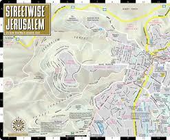 Map Of Jerusalem Streetwise Jerusalem Map Laminated City Center Street Map Of
