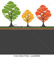 vector of retro tree vector illustration csp4366958 search clip