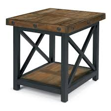 wood metal end table contemporary wood and metal end tables in flexsteel carpenter