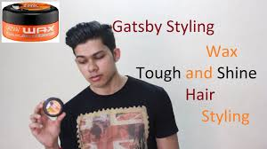 Gatsby Hairstyle Men by Gatsby Styling Wax Tough And Shine Hair Style Review Youtube