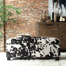 Animal Print Storage Ottoman Animal Print Benches Creative Of Animal Print Storage Ottoman With
