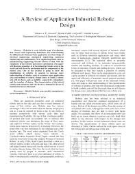 a review of application industrial robotic design pdf download