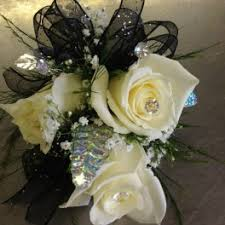 Black And White Corsage Prom Flower Delivery In Cherry Hill Flower Boutique