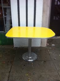 Yellow Retro Kitchen Chairs - creative dining room design idea with black table yellow excerpt