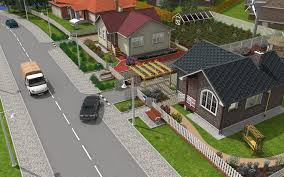 3d home design and landscape software neighborhood 3d model rendering done by michael pechkurov using