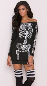 Skeleton Dress Skeleton T Shirt Dress Costume Skeleton Costume Yandy Com