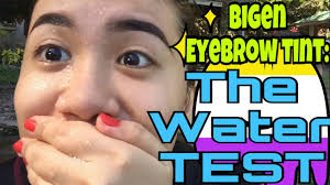 the water test bigen permanent powder diy eyebrow kilay tint