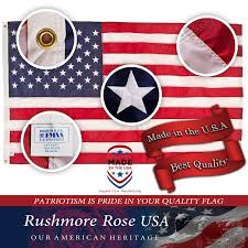 Flags Of The United States Amazon Com American Flag Made In Usa Premium 3x5 Us Flags