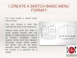 menu design presentation mac