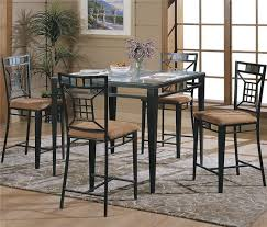 Dining Room Metal Dining Tables And Chairs On Dining Room With - Metal kitchen table