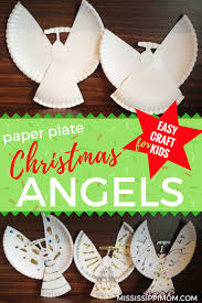 easy paper plate christmas angels craft mississippimom com