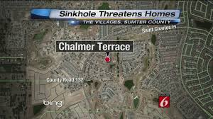 Florida Sinkhole Map by Crews Fill Sinkhole That Threatened 2 Homes In The Villages