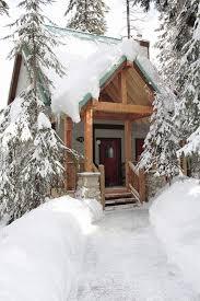 cabin entrance emerald lake bc winter