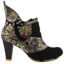 womens dealer boots uk irregular choice starlight impress black gold chelsea