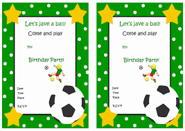 Invitation Cards For Birthday Party Printable Football Birthday Invitations Templates Invitations Ideas