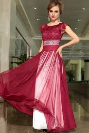 prom dresses online dark red short flounce sleeves lace elegant