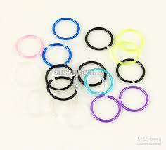 plastic earrings 2017 plastic anti allergy hoop huggie earring ear jewellery