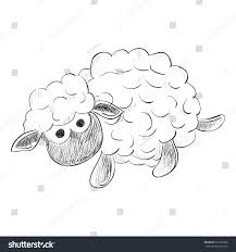 vector sketch toy sheep hand draw stock vector 297202280