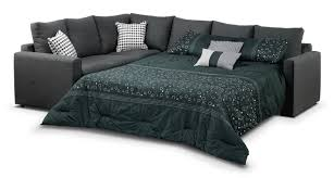 Athina Piece RightFacing Queen Sofa Bed Sectional Charcoal - Mattresses for sofa sleepers 2