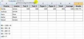 how to use the if function with letter grades in excel microsoft