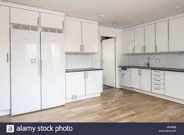 modern white kitchen cabinets wood floor contemporary scandinavian white kitchen with wooden floor