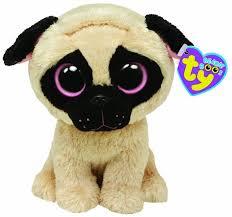 pugsly pug beanie boo dog u0026 puppy stuffed animal ty 36079
