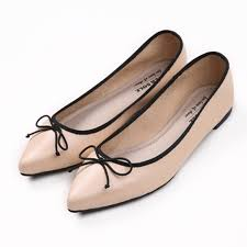 shoes summer flat butterfly knot casual black skin color