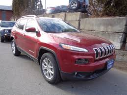 sport jeep cherokee 2017 2017 jeep cherokee latitude 4x4 true north in deep cherry red