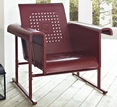 metal outdoor glider chair