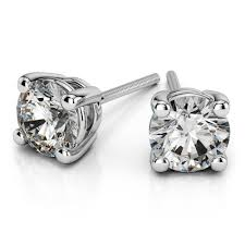 diamond earrings price cut diamond solitaire earrings in 14k yellow or white gold