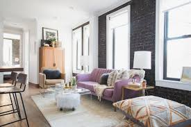urban contemporary apartment with exposed brick walls 2015 fresh