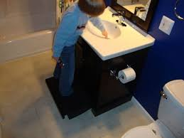 Houzz Kids Bathroom - great bathroom vanity with step stool and pull out step stool