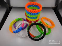 colored rubber bracelet images 2018 personalized rubber bracelets silicon bracelet fluorescent jpg