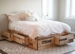diy bed storage ana white brandy scrap wood storage bed with drawers diy projects