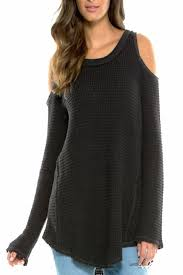 cold shoulder sweaters elan cold shoulder sweater from florida by s glitz and glam