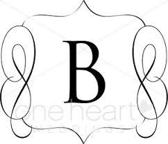 monogram letter b classic monogram b clipart wedding monograms