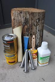 how to make a tree stump table items needed to make a diy tree stump table outside pinterest