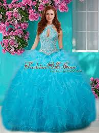 15 quinceanera dresses beading and ruffles halter top 15 quinceanera dress with