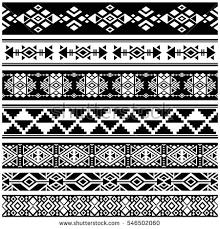 vintage aztec tribal traditional vector stock vector