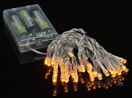 amber led battery powered mini lights from paperlanternstore at
