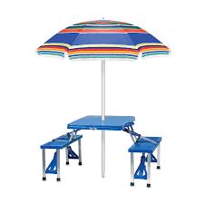 amazon com picnic time u0027portable folding picnic table u0027 with