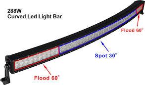 30 Curved Led Light Bar by Riorand Curved 50 U0027 U0027 288w Led Light Bar Spot Flood Combo Beam Off