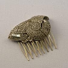 vintage comb vintage deco hair comb ruin
