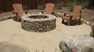 Granite Fire Pit by Decomposed Granite Adirondacks And A Fire Pit Outside 17 Best