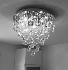 Crystal Ceiling Mount Light Fixture by Modern Contemporary Flush Mount Crystal Ceiling Chandelier
