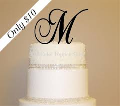 affordable 10 dollar monogram wedding cake topper any letter