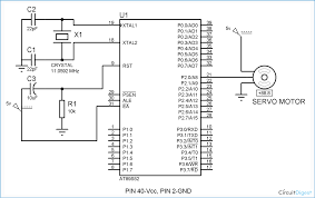 servo motor interfacing with 8051 microcontroller at89s52