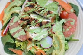 grilled tarragon chicken salad with green goddess dressing