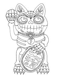 yucca flats n m wenchkin u0027s coloring pages dia de los maneki