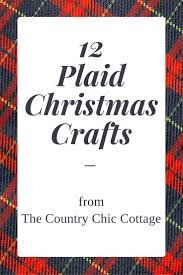 burlap and plaid table runner for christmas the country chic cottage